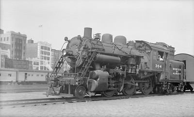 2018.15.N95A.7183--ed wilkommen 116 neg--B&A--steam locomotive 2-6-4T 304--Boston MA--1948 0700