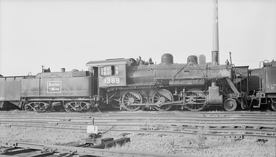 2018.15.N95B.7203--ed wilkommen 116 neg [Edward R Batson Jr]--B&M--steam locomotive 2-6-0 B-15-b 1388--East Sommerville MA--1952 0802