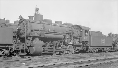 2018.15.N95B.7200--ed wilkommen 116 neg--B&M--steam locomotive 0-8-0 H-2-a 618--East Sommerville MA--1953 0504