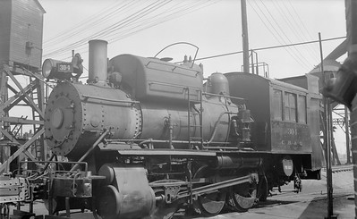 2018.15.N69.5451--ed wilkommen 116 neg--CB&Q--steam locomotive 0-6-0T 304--Denver CO--1953 0709