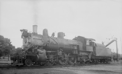 2018.15.N69.5463K--ed wilkommen 116 neg--CB&Q--steam locomotive 2-6-2 R-4 2018 taking water--location unknown--no date