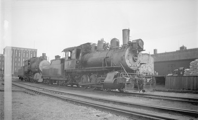 2018.15.N69.5463--ed wilkommen 116 neg--CB&Q--steam locomotive 0-6-0 G-3 1532--Winona MN--1944 0703