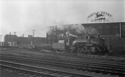 2018.15.N69.5539--ed wilkommen 116 neg--CB&Q--steam locomotive 2-8-2 O-1-A 4982 on freight train action--Moline IL--no date