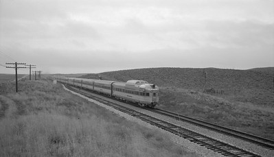 2018.15.N69.7494--ed wilkommen 116 neg--CB&Q--diesel-powered Denver Zephyr passenger train--location unknown--no date