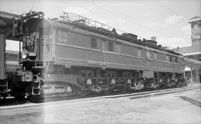 2018.15.N68D.4884--ed wilkommen 116 neg--CMStP&P--electric locomotive E-18--Butte MT--1947 0706