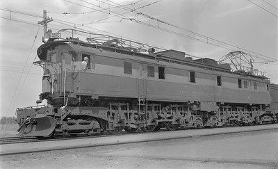 2018.15.N68D.4882--ed wilkommen 116 neg--CMStP&P--electric locomotive E-18--Three Forks MT--1952 0906