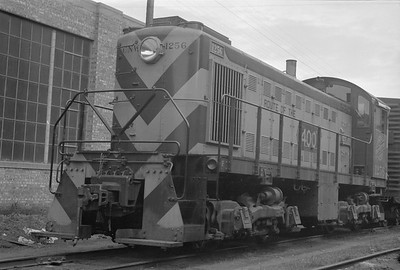 2018.15.N65C.3424--ed wilkommen 6x9 neg--C&NW--diesel locomotive ALCO 1256--West Milwaukee WI--no date