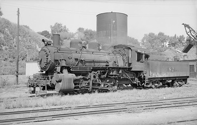 2018.15.N66A.3477--ed wilkommen 6x9 neg--CStPM&O--steam locomotive 0-6-0 M-3 82--Sioux City IA--1955 0814