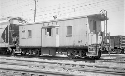 2018.15.N45.1560--ed wilkommen 116 neg--caboose--BA&P--location unknown--no date