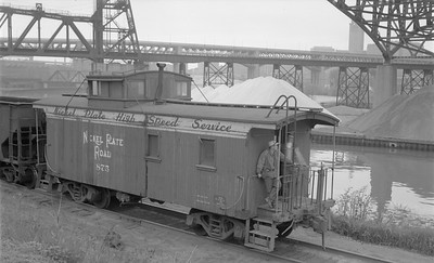 2018.15.N45.1567--ed wilkommen 116 neg--caboose--NKP--location unknown--no date