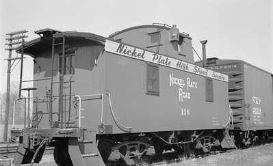 2018.15.N45.1564--ed wilkommen 116 neg--caboose--NKP--location unknown--no date