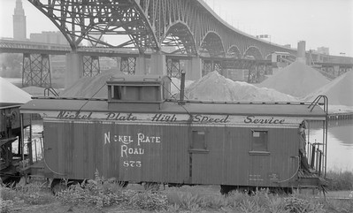 2018.15.N45.1565--ed wilkommen 116 neg--caboose--NKP--location unknown--no date