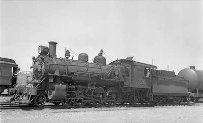 2018 15 N82 6301--ed wilkommen 116 neg--CNR--steam locomotive 4-6-2 J-8-c 591 (narrow gauge)--Argentia NL--1955 0706