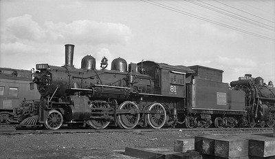 2018.15.N82.6298F--ed wilkommen 116 neg [Stan Mailer]--CNR--steam locomotive 2-6-0 E-10-a 81--location unknown--1958 0329