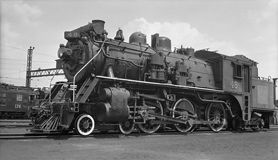 2018.15.N82.6298A--ed wilkommen 116 neg [Stan Mailer]--CNR--steam locomotive 4-6-0 X-10-a 48--Sarnia ON--1957 0424