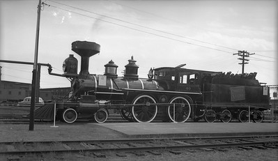 2018.15.N82.6297--ed wilkommen 116 neg--CNR--steam locomotive 4-4-0 40 on display--Portland ME--1953 0814