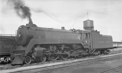 2018.15.N83.6341--ed wilkommen 116 neg--CP--steam locomotive 4-4-4 F1A 2911--Brandon MB--1948 0913
