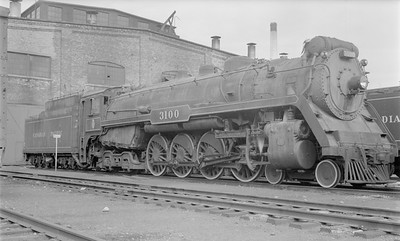 2018.15.N83.6345--ed wilkommen 116 neg--CP--steam locomotive 4-8-4 K1A 3100--Winnipeg MB--1958 0910
