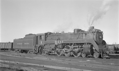 2018.15.N83.6355--ed wilkommen 116 neg--CP--steam locomotive 4-6-2 G3H 2447--Moose Jaw SK--1953 1200