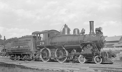 2018.15.N83.6329X--ed wilkommen 116 neg--CP--steam locomotive 4-4-0 A1E 29--Chipman NB--1957 0907