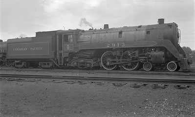 2018.15.N83.6342--ed wilkommen 116 neg--CP--steam locomotive 4-4-4 F1A 2913--Brandon MB--1953 0720