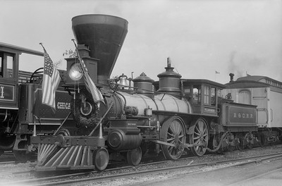 2018.15.N54.6902--ed wilkommen 6x9 neg--Chicago Railroad Fair--B&O 4-4-0 William Mason--Chicago IL--1949 0000