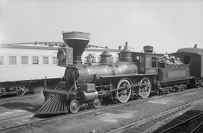 2018.15.N54.6920--ed wilkommen 3x4 neg--Chicago Railroad Fair--UP 4-4-0 Jupiter (V&T Genoa)--Chicago IL--1949 0000