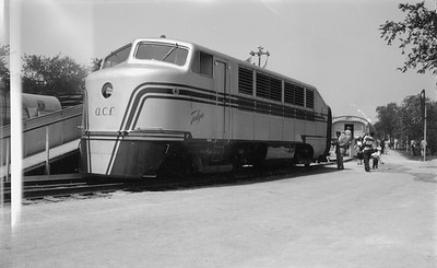 2018.15.N54.1920--ed wilkommen 116 neg--Chicago Railroad Fair--Talgo diesel locomotive--Chicago IL--1949 0000