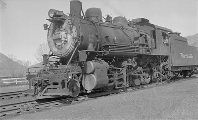 2018.15.N73.5762--ed wilkommen 116 neg--D&RGW--steam locomotive 2-8-0 C-48 1134--Glenwood Springs CO--1953 0424
