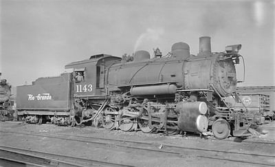 2018.15.N73.5767--ed wilkommen 116 neg--D&RGW--steam locomotive 2-8-0 C-48 1143--Salt Lake City UT--1952 0911