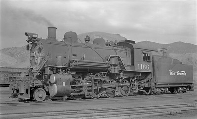 2018.15.N73.5769--ed wilkommen 116 neg--D&RGW--steam locomotive 2-8-0 C-48 1166--Salida CO--1952 0912