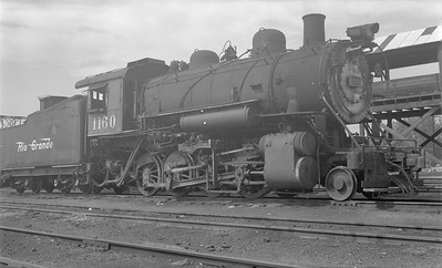 2018.15.N73.5768--ed wilkommen 116 neg--D&RGW--steam locomotive 2-8-0 C-48 1160--Grand Jct CO--1953 0700