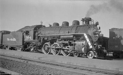 2018.15.N73.5759--ed wilkommen 116 neg--D&RGW--steam locomotive 4-6-2 P-44 804--Grand Jct CO--1951 0705