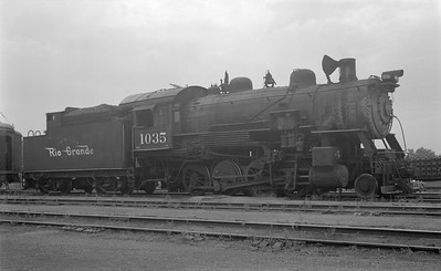 2018.15.N73.5760--ed wilkommen 116 neg--D&RGW--steam locomotive 2-8-0 C-43 1035--Denver CO--1954 0700