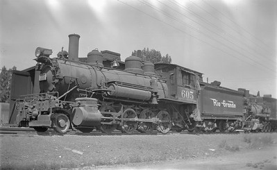 2018.15.N73.5757A--ed wilkommen 116 neg--D&RGW--steam locomotive 2-8-0 C-26 605--Montrose CO--1951 0705