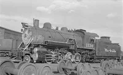 2018.15.N73.5763--ed wilkommen 116 neg--D&RGW--steam locomotive 2-8-0 C-48 1136--Grand Jct CO--1952 0912