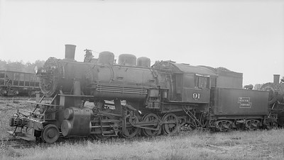 2018.15.N92A.7100--ed wilkommen 116 neg--DSS&A--steam locomotive 2-8-0 91--location unknown--no date