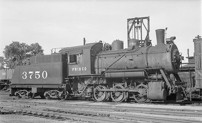 2018.15.N89.6534--ed wilkommen 116 neg--SLSF--steam locomotive 0-6-0 3750 at coal hoist--Wichita KS--1950 0701