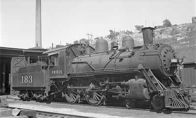 2018.15.N89.6522--ed wilkommen 116 neg--SLSF--steam locomotive 4-4-0 183 (dead)--Kansas City MO--1947 0731