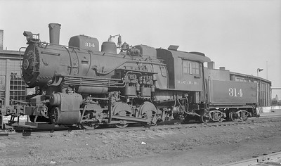 2018.15.N87.6395D--ed wilkommen 116 neg--ICRR--steam locomotive 0-6-0 314--location unknown--no date