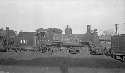 2018.15.N87.6395G--ed wilkommen 116 neg--ICRR--steam locomotive 2-6-0 401--location unknown--no date