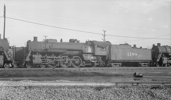 2018.15.N87.6403D--ed wilkommen 116 neg--ICRR--steam locomotive 4-6-2 1188--location unknown--no date