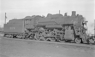 2018.15.N87.6400--ed wilkommen 116 neg--ICRR--steam locomotive 2-8-0 908--Clinton IL--1953 0202