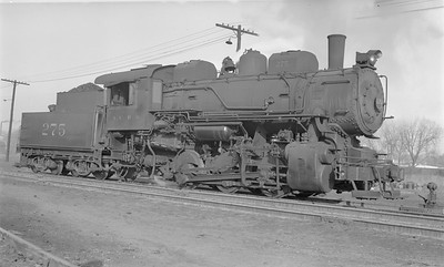2018.15.N87.6394--ed wilkommen 116 neg--ICRR--steam locomotive 0-6-0 275--Freeport IL--1952 1228