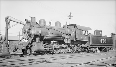 2018.15.N96B.7231--ed wilkommen 116 neg--KCS--steam locomotive 2-8-0 478--Fort Smith AR--1945 0117