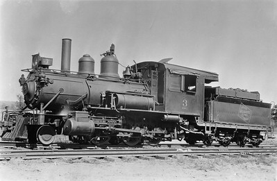 2018.15.L.6965N--ed wilkommen 5x7 COPY neg--CMStP&P--narrow gauge steam locomotive 2-6-0 NM2 3--Bellevue IA--no date