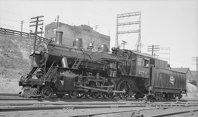 2018.15.L.6985--ed wilkommen pc neg--CMStP&P--steam locomotive 4-6-0 G6ps 2774 (later renumbered to 1112)--Milwaukee WI--1938 0409