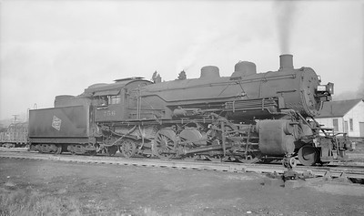 2018.15.L.6979--ed wilkommen pc neg--CMStP&P--steam locomotive 2-8-2 L1as 756--Savanna IL--1951 1100