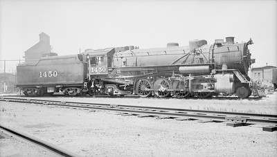 2018.15.N98A.7286--ed wilkommen 116 neg--MP--steam locomotive 2-8-2 1450--Hutchinson KS--1948 0707