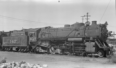 2018.15.N98A.7285A--ed wilkommen 116 neg--MP--steam locomotive 2-8-2 1427--location unknown--no date
